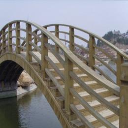 定做户外防腐木拱桥木桥平板桥 木桥 景观桥  小木桥