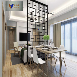 简约家庭客厅304黑钛不锈钢隔断屏风古铜色不锈钢雕花屏风