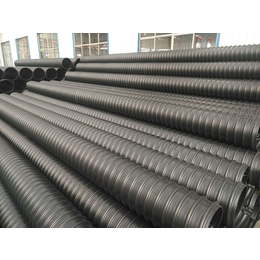 太仓波纹排污管 圣大管业 钢带增强HDPE聚乙烯螺旋波纹管
