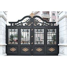 北京密云铝艺庭院大门阳台护栏厂家铸铝庭院进户门定制