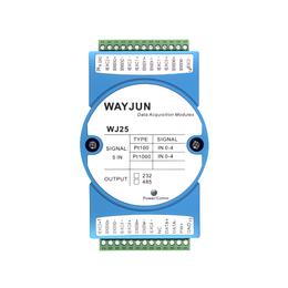 5路热电阻温度信号转RS-485232远程IO模块