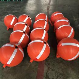 沙滩海边圆球型警示危险区实心浮球