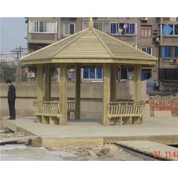 防腐木八角方柱凉亭景观凉亭