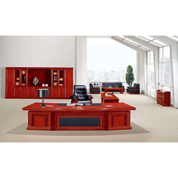 天津实用商务老板桌书柜茶几组合