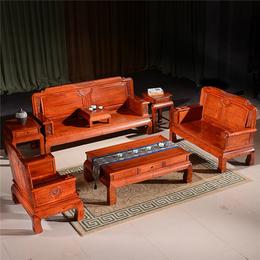【鲁艺宅品】工艺精湛-金玉满堂沙发缅甸花梨木家具批发