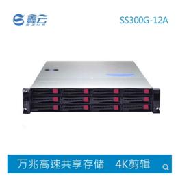 鑫云SS300G12A万兆光纤影视4K编辑共享磁盘阵列