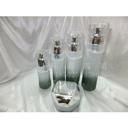 包装高端木纹盖化妆品玻璃瓶乳液膏霜分装瓶包材品