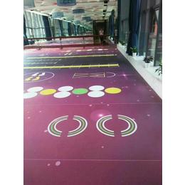 供应厂家直销健身房地垫功能地胶塑胶地板PVC运动地板场