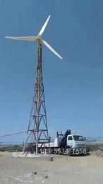 浙江30kw380v小型风力发电机  风光互补船用供电系统