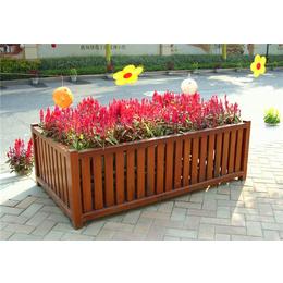 南昌室外防腐木组合花盆销售