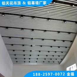 体育馆吊顶 白色U型铝方通 白色长条铝格栅