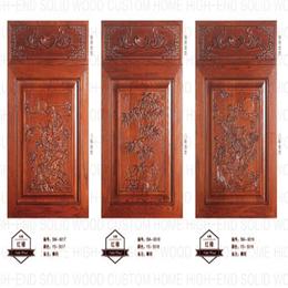 实木红橡弹簧门定制 多款式 多种颜色选择