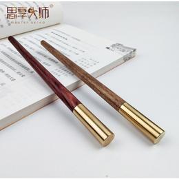 亚马逊红木签字笔定制logo实用礼品木质工艺品檀木笔创意办公