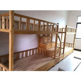 实木连体双层组合床厂家生产