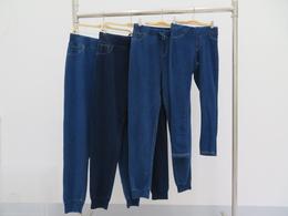 秋季新款男士男中大童直筒束脚牛仔裤