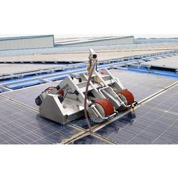太阳能板脏了怎么清洗_德瑞智能光伏组件清洗设备