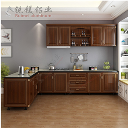 厂家大量现货直销铝合金橱柜 全铝厨房橱柜门板定制