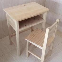 单人课桌椅批发 实木环保学生课桌
