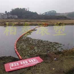 河道绿色乡村河道拦截水面漂浮物生活垃圾拦污浮筒