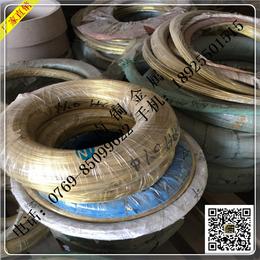 黄铜线生产厂家H65黄铜线打螺丝铆钉用H65插头用黄铜扁线