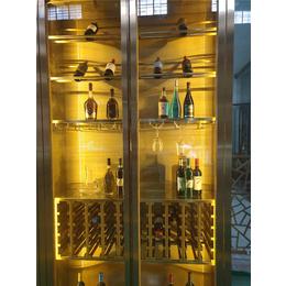 红河不锈钢酒柜-花玄屏(在线咨询)-定制不锈钢酒柜