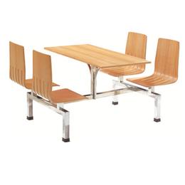 HL-A19123四位不锈钢固定餐桌