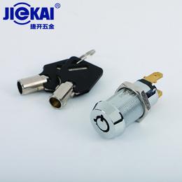 JK210 钥匙开关 电源锁 自复位钥匙开关锁 电梯基站锁