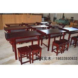 仿古書法教學專用桌椅