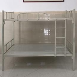 中山学生宿舍上下铺铁架床 工地员工双层金属床 公寓铁架床