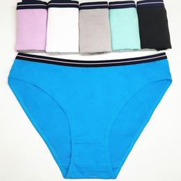 纯色棉性感女士三角裤批发 外贸现货货源女式内裤厂家直销女短裤