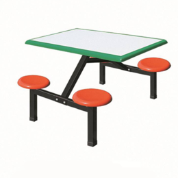 ZH-CZ012四位圆凳餐桌椅