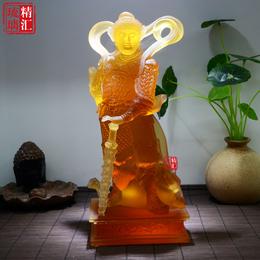 韦陀菩萨古法琉璃佛像 寺院护法琉璃佛像 北京琉璃佛像工厂