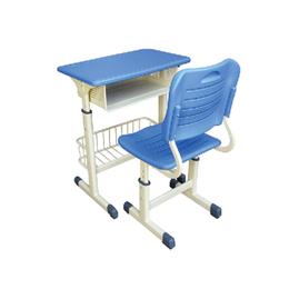 中式单人课桌椅生产直销 江西培训班课桌椅厂家缩略图