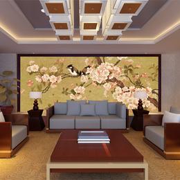 中式挂画壁画客厅装饰画餐厅壁画中式玄关风景油画壁画缩略图