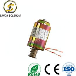 可定制圆管式推拉式电磁铁TU3862 直流 24V