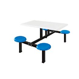 江西学校员工食堂餐桌椅 四人连体快餐桌缩略图