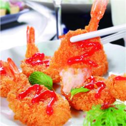黄金蝴蝶虾 面包凤尾虾 西餐厅专用 裹粉油炸小吃 缩略图
