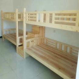学校环保实木连体双层公寓床厂家直销