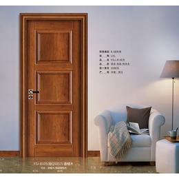 木门出售 FSJ-8105香榧木 工艺扣线门缩略图