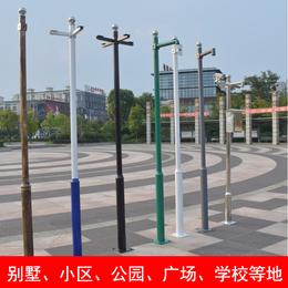 小区不锈钢监控立杆4米 加厚监控杆枪机室外监控杆可批发定制