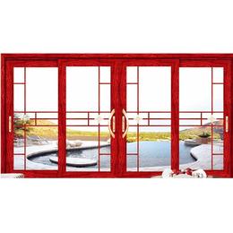 红橡木 断桥铝门窗 格纹