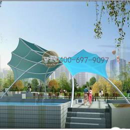 膜结构游泳池遮阳棚景观棚张拉膜索膜广场膜结构工程