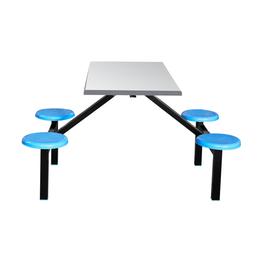 四位玻璃钢圆凳餐桌缩略图