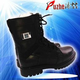 电热警靴警用加热皮鞋电热鞋厂家河南浦喆