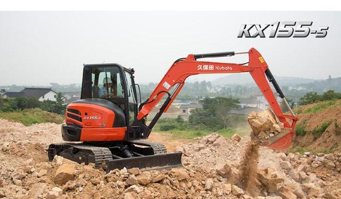 久保田新机型KX175-5挖掘机