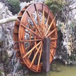 户外防腐木景观电动水车园林实木大型手摇风水轮流水木制小型水车缩略图
