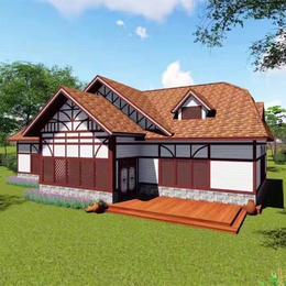 防腐木中式户外别墅 木屋