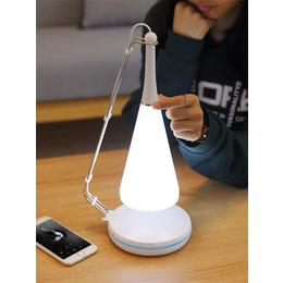 供应无线充护眼台灯 蓝牙音响触摸夜灯