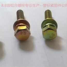 组合螺栓 组合螺丝生产厂家 镀彩锌三组合螺栓现货供应