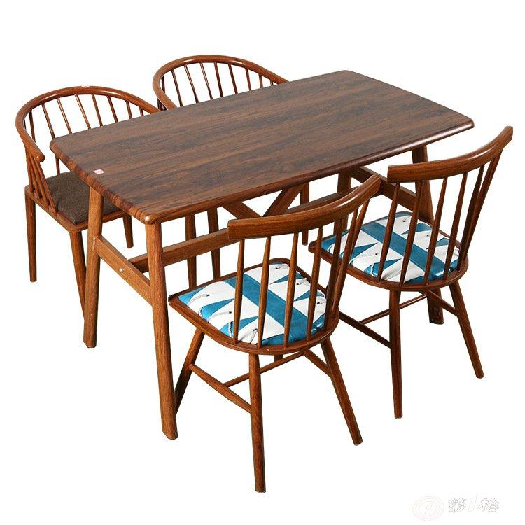 简约实木餐桌 酒店餐桌 咖啡厅餐桌椅定制 餐厅家具定制